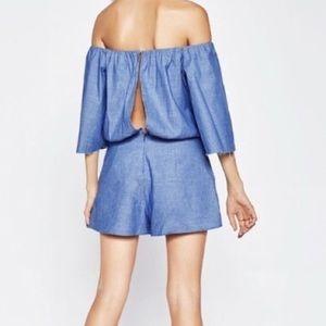 Zara Other - Zara Chambray Twist front Romper XS